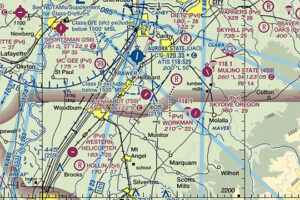 VFR sectional map showing Lenhardt Airpark's location